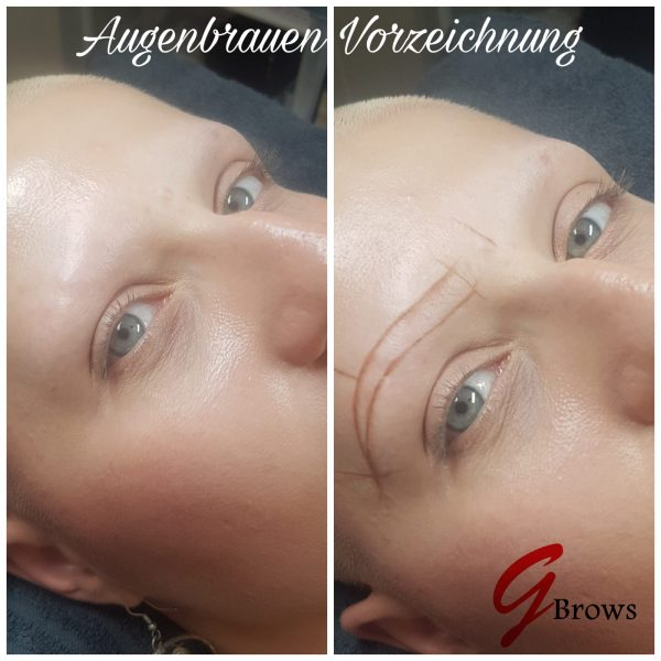 Augenbrauen Modellieren beim Haarausfall Erkrankung Patienten Frankfurt Wiesbaden Hofheim Mainz