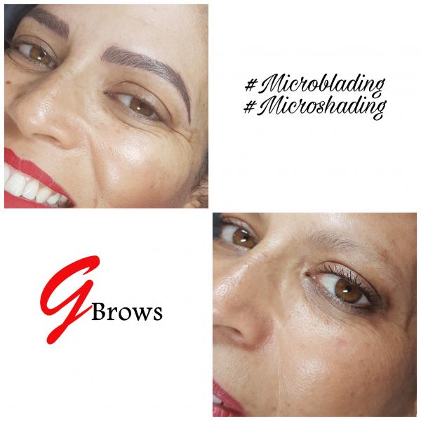 Microblading Natürliche Augenbrauen Dauerhafte Korrektur hält bis zu 2 Jahren