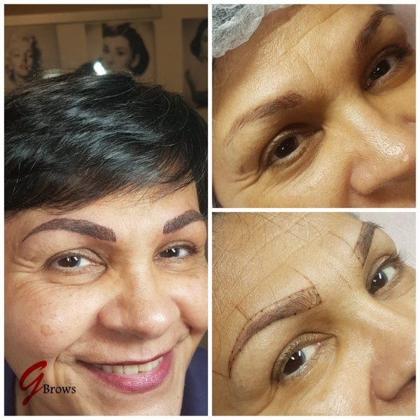 Altes Permanent Make Up auffrischen Augenbrauen Korrektur Microblading